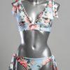 Bikini Bloemen Blauw Bandjes Agua Bendita