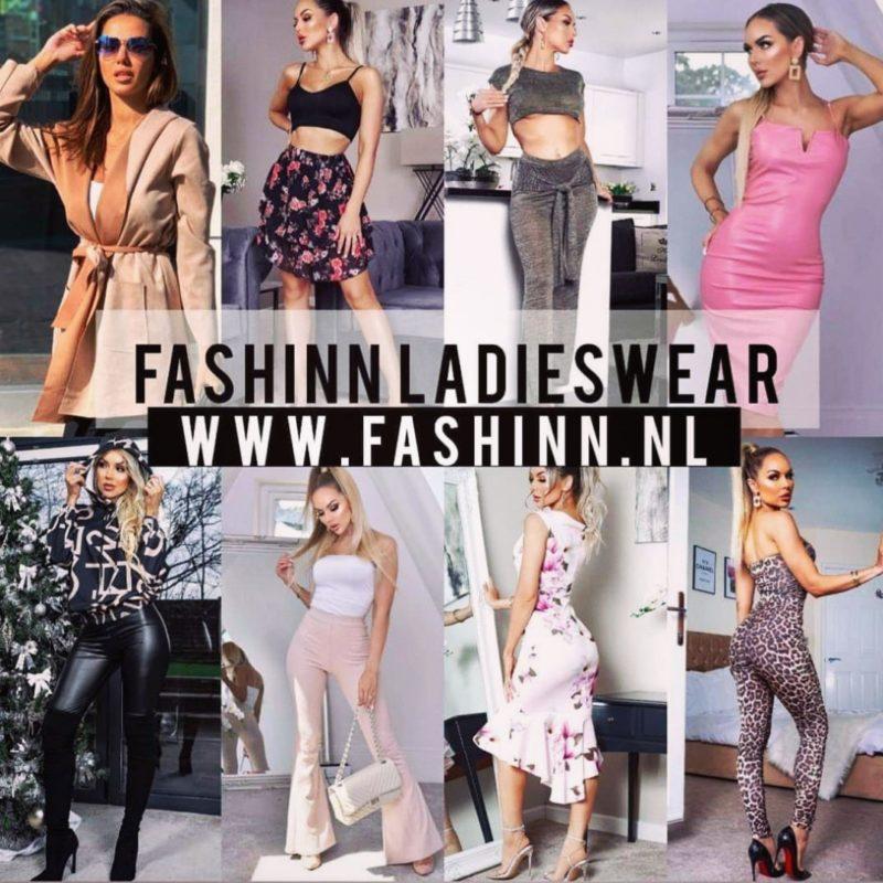 Vrouwen in kleding uit webshop Fashinn Ladieswear collectie