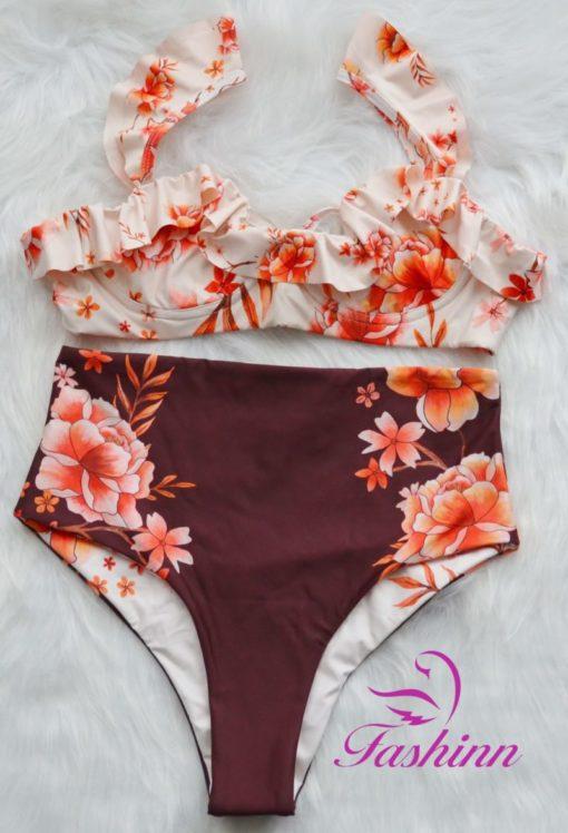 High Waist Bikini Set Cocao