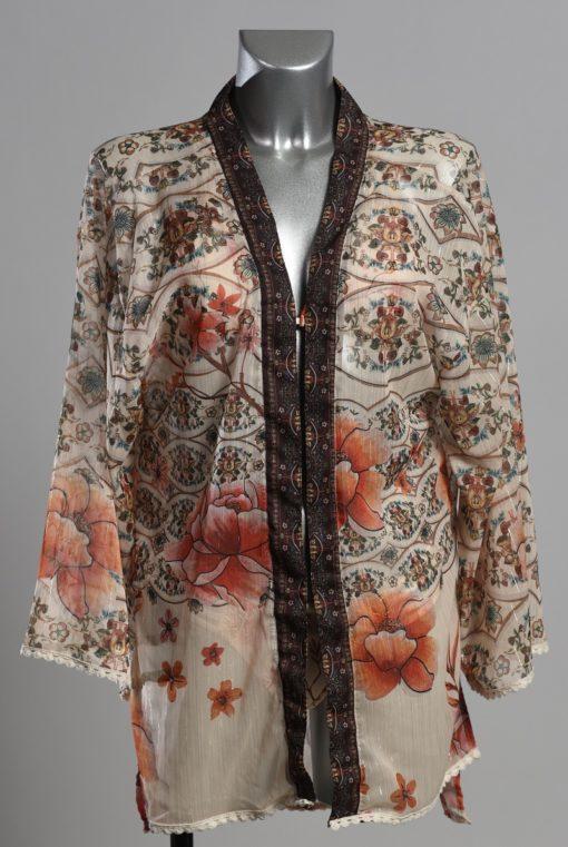 Voorkant Paspop met Korte Kimono voor Dames