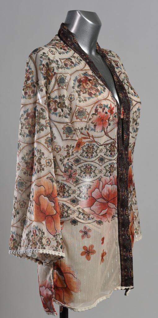 Zijkant Paspop met Korte Kimono voor Dames