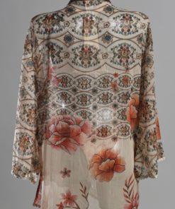 Achterkant Paspop met Korte Kimono voor Dames