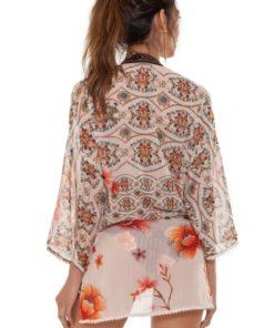 Achterkant Korte Dames Kimono Juana van merk Agua Bendita